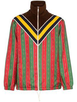 Gucci куртка с принтом Horsebit Chain 572749XJA42