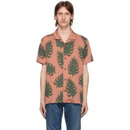 Nudie Jeans Pink Leaf Print Arvid Shirt 140652