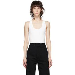 Lemaire Off-White Sleeveless Bodysuit W 202 JE295 LJ051