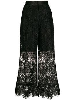 Materiel укороченные кружевные брюки N776PABK