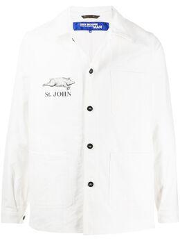 Junya Watanabe Man куртка-рубашка с логотипом WEJ403S20