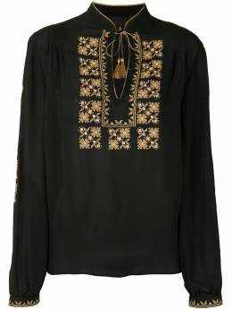 Nili Lotan блузка с вышивкой 10729W686
