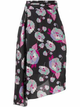 Isabel Marant драпированная юбка с цветочным принтом JU116120E013I