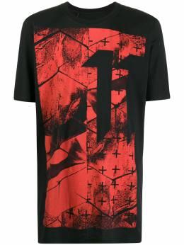 11 By Boris Bidjan Saberi удлиненная футболка с графичным принтом TS5F1101