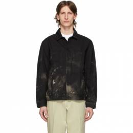 Etudes SSENSE Exclusive Black Denim Bleached Corner Jacket E16S-001-SS