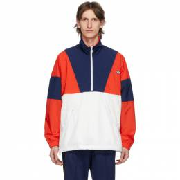 Adidas Originals Red and Navy Colorblock Track Jacket FM2201