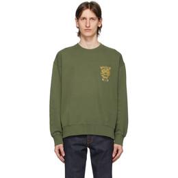 Nudie Jeans Green Misfit Creature Lukas Sweatshirt 150446