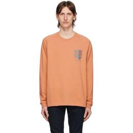 Nudie Jeans Orange Misfit Creature Bodie Long Sleeve T-Shirt 131703