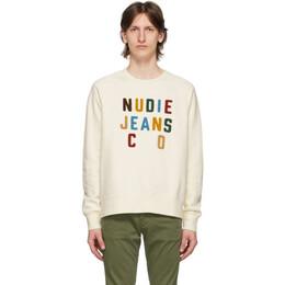 Nudie Jeans Off-White Melvin Sweatshirt 150448