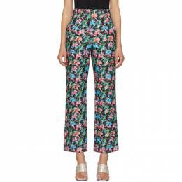 Paco Rabanne Multicolor Floral Trousers 20ECPA068CO0337