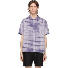Saturdays Nyc Blue Alpons Miner Wash Shirt M22030AP02