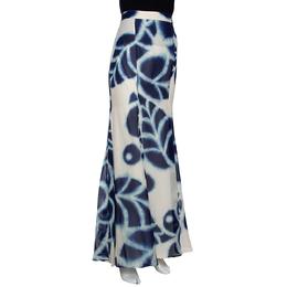 Roberto Cavalli Blue Tie Dye Printed Chiffon Maxi Skirt L 290056