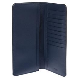 Prada Blue Saffiano Lux Leather Continental Wallet 290716
