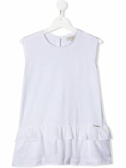 Twin-Set Kids блузка с вышивкой 201GJ2221