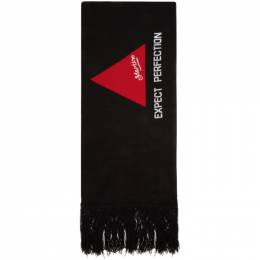 Martine Rose SSENSE Exclusive Green and Black Football Scarf OPTION 1 SCARF