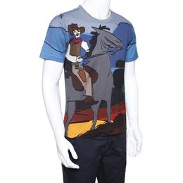 Dolce&Gabbana Multicolor Cotton Cowboy Print T Shirt XS 290462