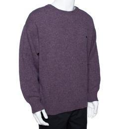 Burberry Purple Wool Crew Neck Sweater XXL 290439