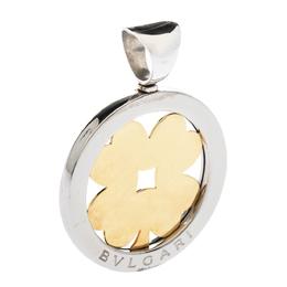 Bvlgari Tondo Clover 18K Yellow Gold & Stainless Steel Pendant 290602