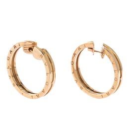 Bvlgari B.Zero1 18K Rose Gold Hoop Earrings 290848