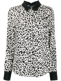 Roberto Cavalli Class рубашка свободного кроя с леопардовым принтом B0IUB640S0565006