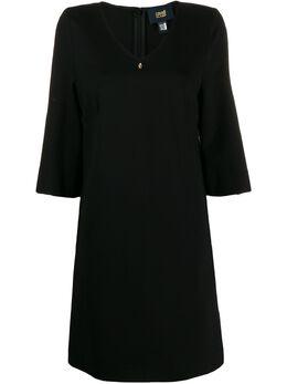 Roberto Cavalli Class короткое платье с V-образным вырезом IUA47397804899