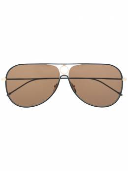 Thom Browne Eyewear солнцезащитные очки-авиаторы TBS115