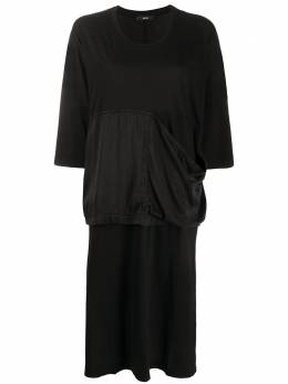 Diesel платье-футболка оверсайз с контрастной вставкой 00SEML0WASU