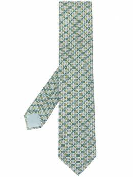 Hermes галстук с узором pre-owned 606113FA