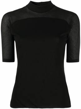 Andrea Ya'aqov полупрозрачная блузка с короткими рукавами 20WPLA57