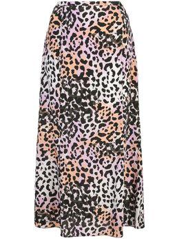 Veronica Beard юбка с леопардовым принтом 2003SD033226