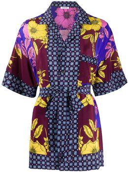 P.a.r.o.s.h. рубашка с цветочным принтом и завязками SAFID380475C