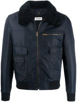 Saint Laurent куртка-бомбер Aviator на молнии 612161Y722T