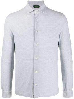 Zanone полосатая рубашка с длинными рукавами 811978ZW376