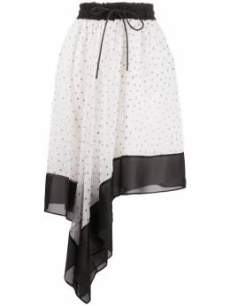 Sacai юбка асимметричного кроя в горох 2005065