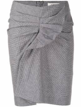 Isabel Marant Etoile юбка мини Ines в ломаную клетку JU074120P011E