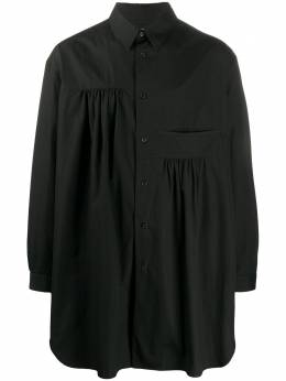 Yohji Yamamoto рубашка оверсайз со складками HNB18014