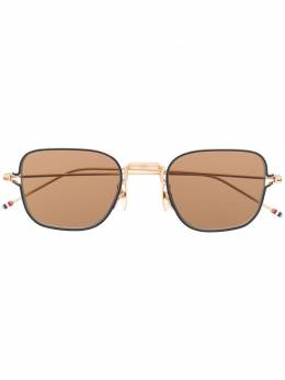 Thom Browne Eyewear солнцезащитные очки в узкой квадратной оправе TBS116
