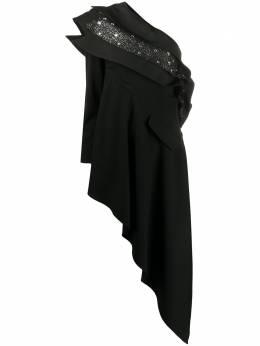 Loulou платье асимметричного кроя с кристаллами SH2010042