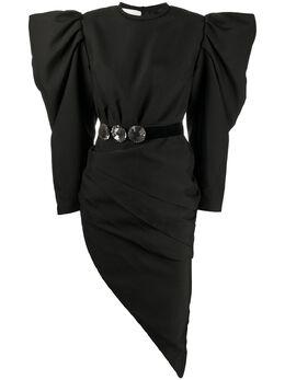 Loulou платье асимметричного кроя со сборками SH2010054