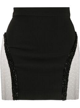 Loulou юбка мини с пайетками SH2010046BLACK
