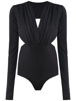 Amir Slama long sleeved bodysuit with cut details 00000742