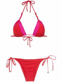 Amir Slama panelled triangle bikini set 10189