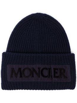 Moncler шапка-бини с логотипом 9960500979C4