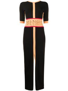 Kirin длинное трикотажное платье с открытой спиной KWHI004S20KNI0011033