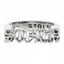 Stolen Girlfriends Club Silver Gothic Stolen Seal Ring JWL19147