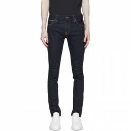 Nudie Jeans Blue Skinny Lin Jeans 112705