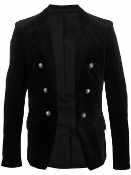 Balmain бархатный пиджак SH17110C102