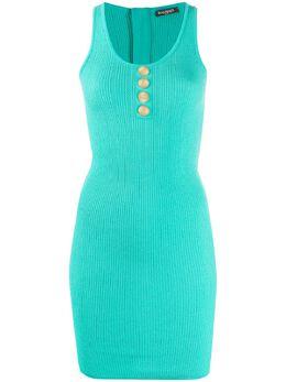 Balmain платье на пуговицах RF16648K288