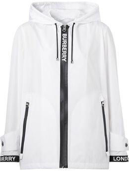 Burberry куртка Econyl® с логотипом и капюшоном 8027532