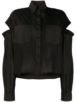 Andrea Ya'aqov рубашка с длинными рукавами и вырезами 20WKAP55